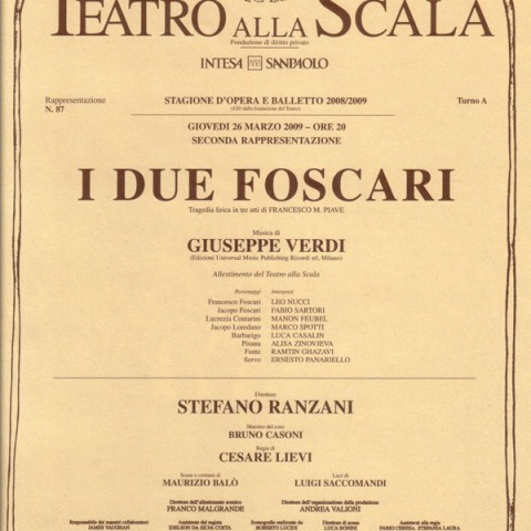 I Due Foscari – Teatro alla Scala